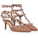 Valentino Leather Rockstud Kitten Heels