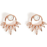 Nikos Koulis 18kt Pink Gold Earrings with Diamonds and Mother of Pearl