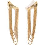 Nikos Koulis 18kt Yellow Gold Star Earrings with White Diamonds