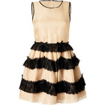 RED Valentino Silk Dress with Lace Trim