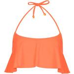 Topshop Flame Orange Shelf Bikini Top