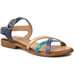 Sandály LAN-KARS - B27-20-12-59 Béžová Modrá Zelená