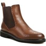 Kotníková obuv s elastickým prvkem BRUNO PREMI - Savana F0202X Cuoio
