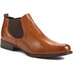 Kotníková obuv s elastickým prvkem SOLO FEMME - 65805-01-D56/000-03-00 Hnědá