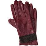 Damen Handschuhe in dunkelrot von C&A