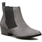 Kotníková obuv s elastickým prvkem CALVIN KLEIN JEANS - Frieda Suede RE8997 Smoke
