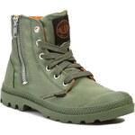 Turistická obuv PALLADIUM - Pampa Hi Zip Ma-1 93233378 Sage/Orange