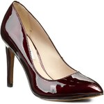 Lodičky CLARKS - Always Chic 261042344 Burgundy Patent