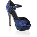 Samt-Sandalette Alisha blau