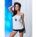 Dámské pyžamo Donna Julia White-Navy Blue jak na obrázku 2XL