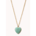 Forever 21 Sweet Faux Turquoise Pendant Necklace