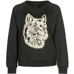 Oui GOLDENER WOLF Sweatshirt black