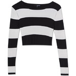 Tally Weijl Monochrome Knit Long Sleeve Crop Top