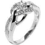 Silvego Elegantní stříbrný prsten EWER02989 50 mm