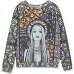 Tally Weijl Colourful Sweater with Stain Glass Print