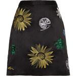 Topshop Navy Tokyo Flower Skirt