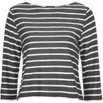 Topshop Scallop Striped Tee