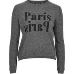 Topshop Paris Paris Motif Sweater