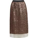 Topshop Sequin Pleated Midi Skirt