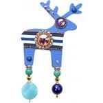 Deers Velká modrá brož Emorin