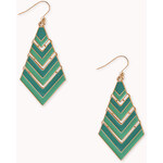 Forever 21 Colorblocked Chevron Drop Earrings