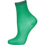 Topshop Emerald Fine Glitter Ankle Socks