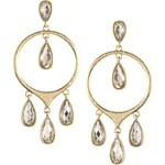 Love Rocks Pear Drops From Hoop Earring