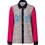 Marc by Marc Jacobs Silk Colorblock Print Shirt