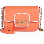 Salvatore Ferragamo Leather Paris Mini Shoulder Bag