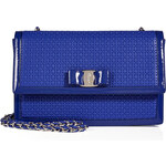 Salvatore Ferragamo Woven Leather Ginny Crossbody Bag