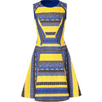 Prabal Gurung Embroidered Lace Colorblock Dress