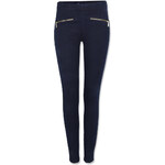 Tally Weijl Blue Skinny Jeans with Exposed Zip
