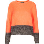 Topshop Knitted Contrast Wool Jumper
