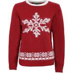 Červený svetr Winter Snowflake L