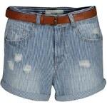 SoulCal Belted Stripe Shorts Blue 6 (XXS)