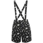 Miso All Over Print Dungaree Shorts dámské Black/Wht Jazzy 8 (XS)