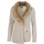 Firetrap Fur Collar Knitted Cardigan dámské Ecru Lurex 8 (XS)