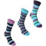 Kangol Formal Socks 3 Pack dámské Purple Stripe Dámské 4-8