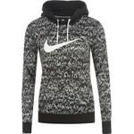 mikina Nike All Over Print Hoody dámská Black/White 8 (XS)