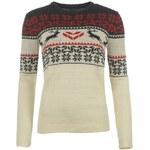 Star Xmas Fair Isle Knitted Sweatshirt dámské Cream/Navy/Red 8 (XS)