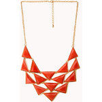 FOREVER21 Bold Faux Stone Bib Necklace