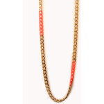 Forever 21 Sleek Colorblocked Chain Necklace