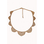 Forever 21 Abstract Cutout Bib Necklace