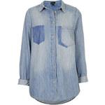 Topshop MOTO Contrast Pocket Shirt
