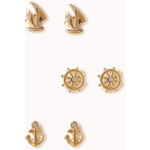 Forever 21 Nautical Stud Set
