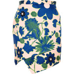 Topshop Embellished X-Ray Flower Skirt