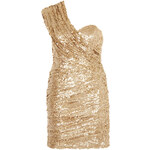 Topshop **Ruched Sequin Sash Dress by Rare