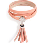 Marc by Marc Jacobs Leather Wrap Tassel Bracelet