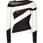 Donna Karan New York Two-Tone Illusion Collage Top