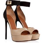 Givenchy Leather/Nubuck Platform Sandals
